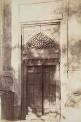 Larkhana, Shikarpur District, Sindh. Tomb of Shah Baharo, door